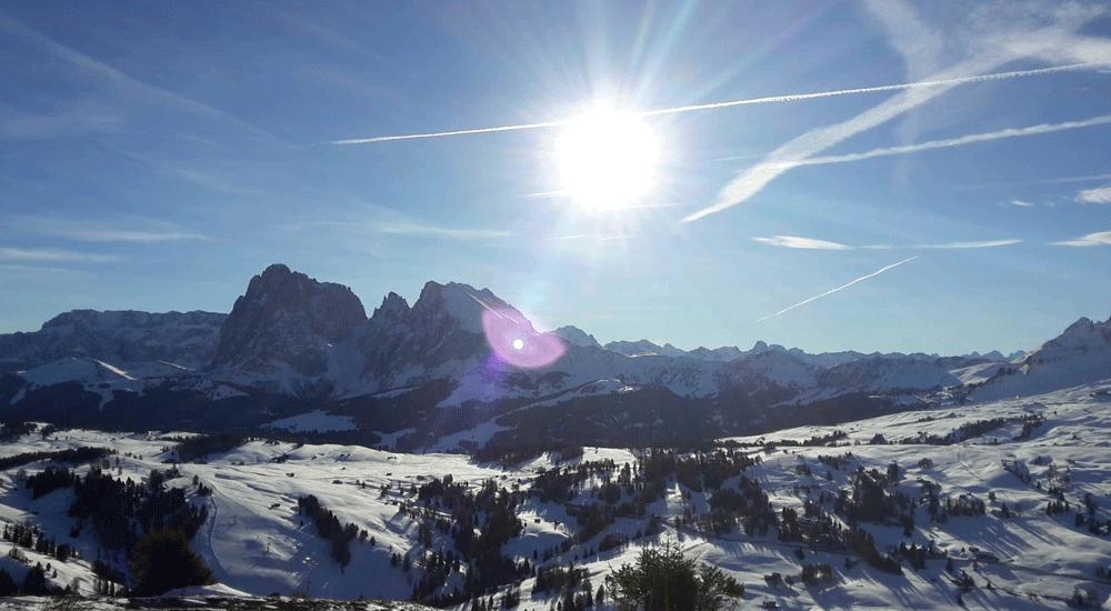 Das Skigebiet Seiser Alm bei Kastelruth